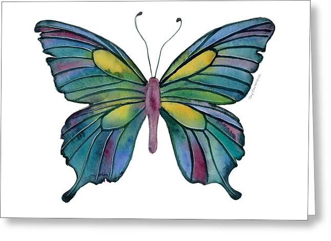 Amy Greeting Cards - 71 Cathedral Butterfly Greeting Card by Amy Kirkpatrick