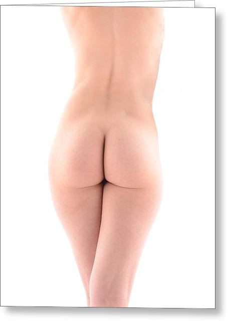 Butt Cheeks Greeting Cards - 7196 Beautiful Nude Avonelle Rear View Greeting Card by Chris Maher