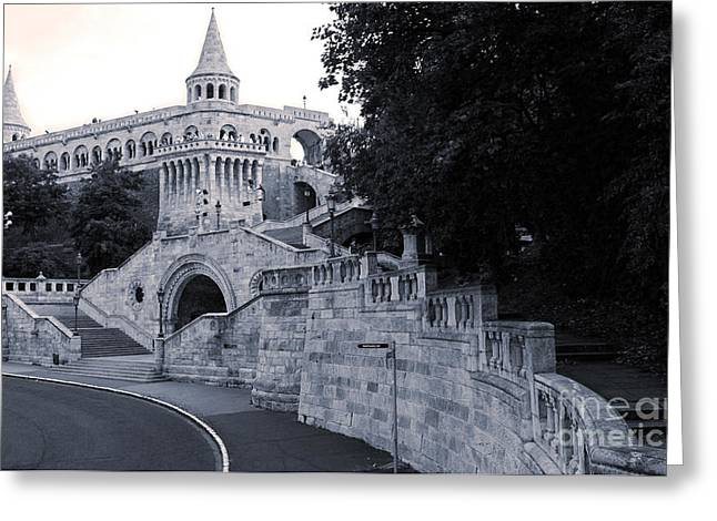 Budapest Hungary - Fishermans Bastion Greeting Card by Gregory Dyer