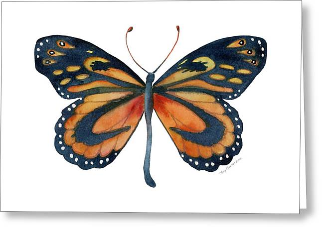 Background Paintings Greeting Cards - 72 Cleobaea Butterfly Greeting Card by Amy Kirkpatrick