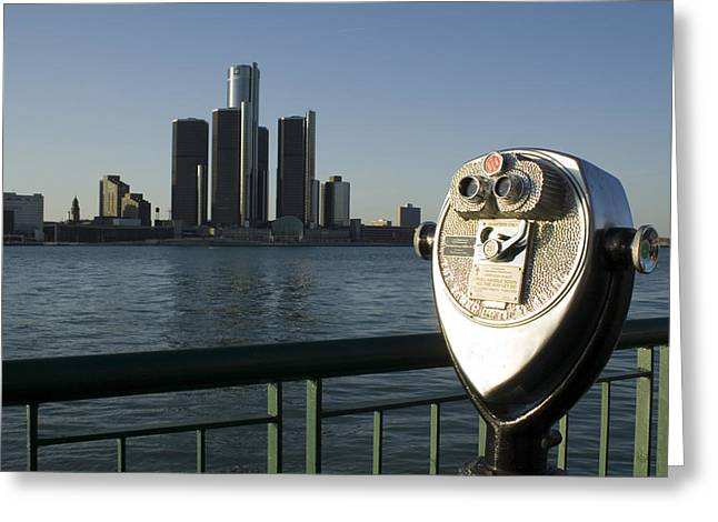 River Greeting Cards - Detroit Skyline Greeting Card by Gary Marx