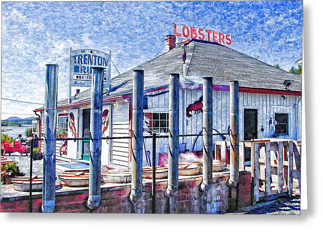 Lobster Shack Greeting Cards - 7289-061309 Greeting Card by Lewis Mann