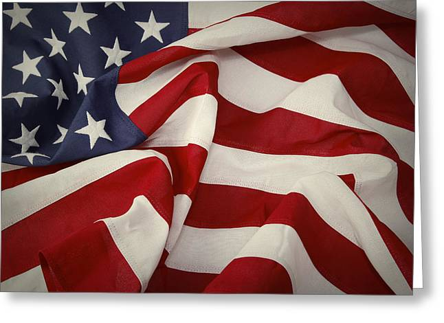 American Independence Day Greeting Cards - American flag Greeting Card by Les Cunliffe