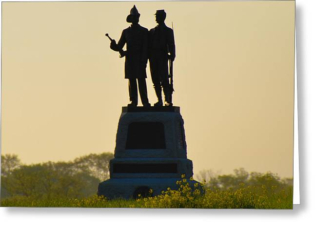 Fire Zouaves Greeting Cards - 73rd NY Infantry 2nd Fire Zouaves Greeting Card by Bill Cannon