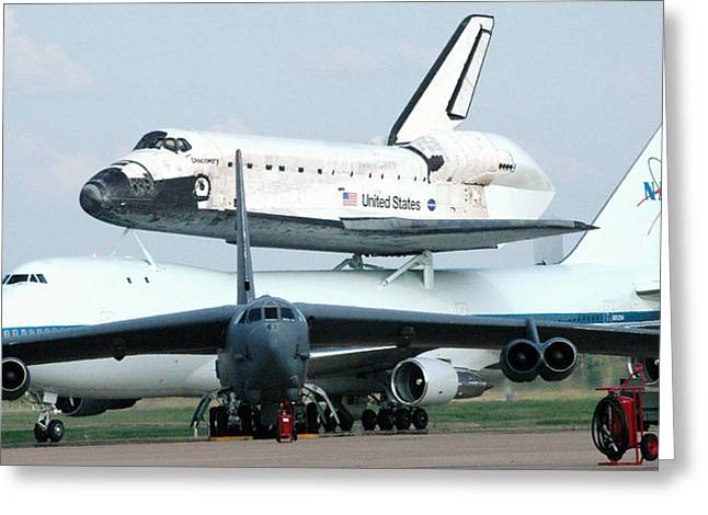 747 Transporting Discovery Space Shuttle Greeting Card by Science Source