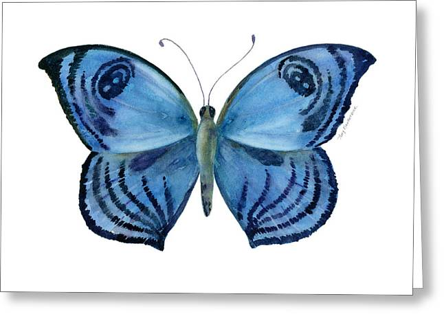 Background Paintings Greeting Cards - 75 Capanea Butterfly Greeting Card by Amy Kirkpatrick
