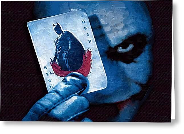 Batman Mixed Media Greeting Cards - Batman Arkham Greeting Card by Victor Gladkiy