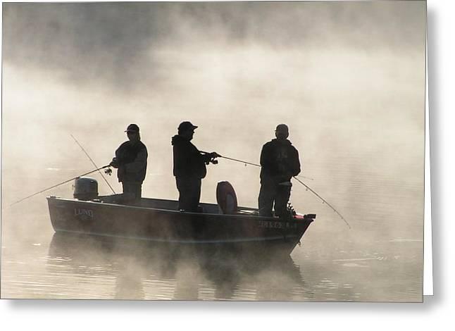 Print Photographs Greeting Cards - #763 D71 FISHERMEN Horizontal.JPG Greeting Card by Robin Lee Mccarthy Photography