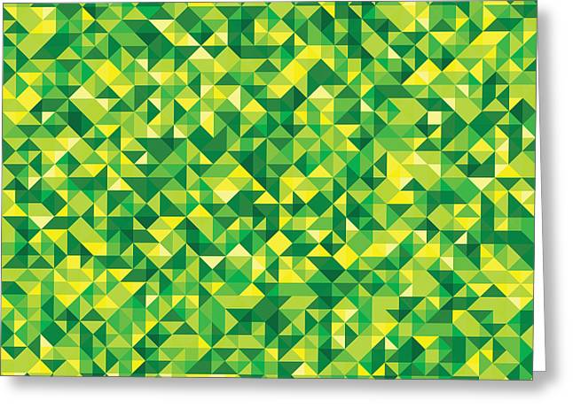 Abstract Style Greeting Cards - Pixel Art Greeting Card by Mike Taylor