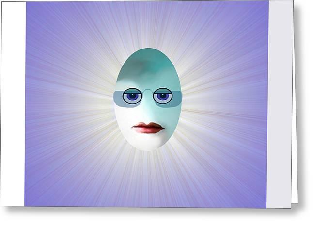 Eggheads Greeting Cards - 770 - Egghead    Greeting Card by Irmgard Schoendorf Welch
