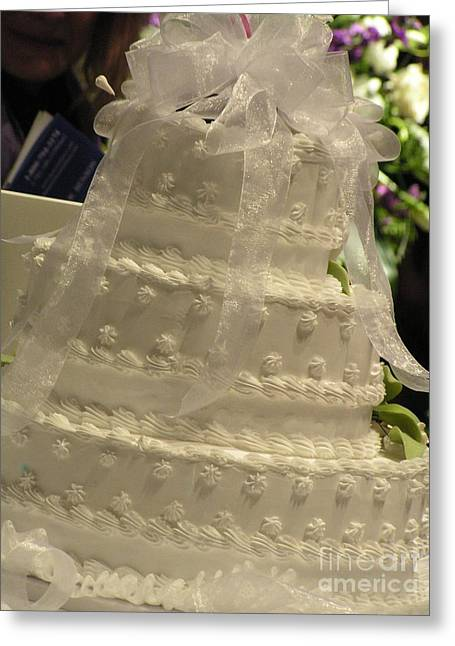 #775 D138 Cake All White  Greeting Card by Robin Lee Mccarthy Photography