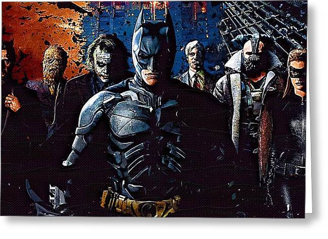 The Dark Knight Greeting Cards - The Dark Knight Rises Greeting Card by Victor Gladkiy