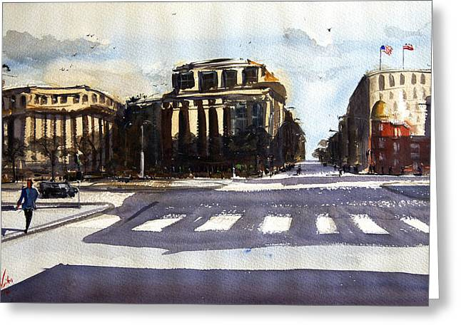 Spectacular Paintings Greeting Cards - 7th and Penn Greeting Card by James Nyika