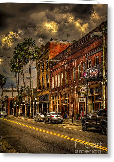 Tampa Greeting Cards - 7th Avenue Greeting Card by Marvin Spates