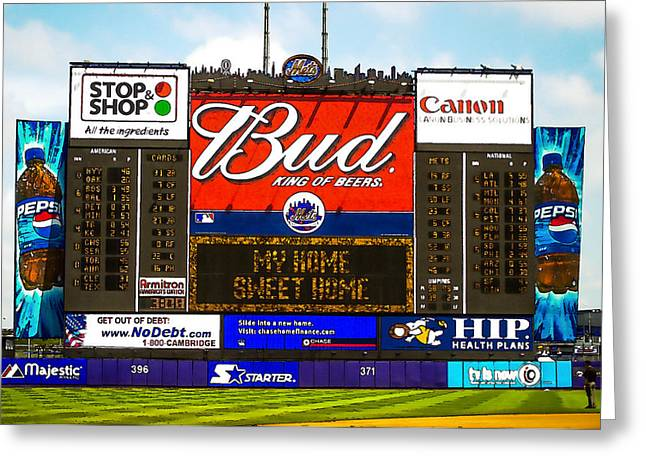 Shea Stadium Greeting Cards - 7th Inning Stretch at Shea Stadium Greeting Card by Jerry Coli