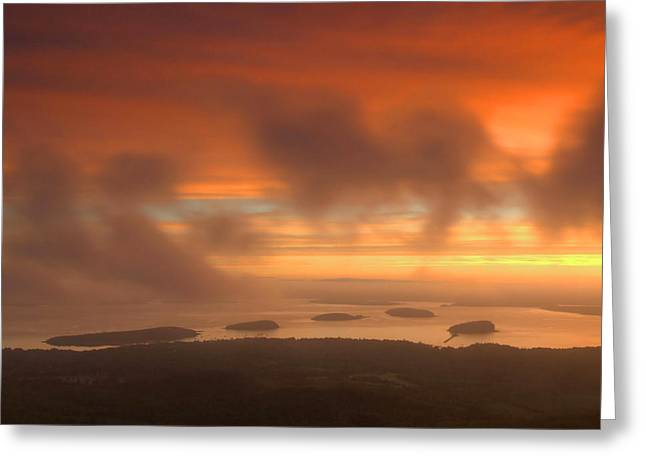 Maine Landscape Greeting Cards - Acadia Sunrise Greeting Card by Stephen  Vecchiotti