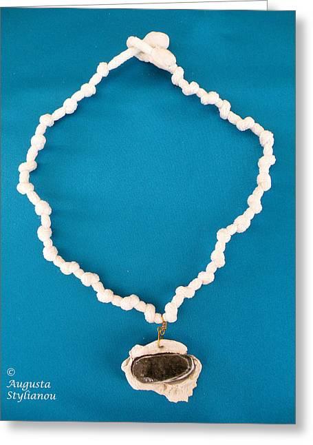 White Jewelry Greeting Cards - Aphrodite Anadyomene  Necklace Greeting Card by Augusta Stylianou