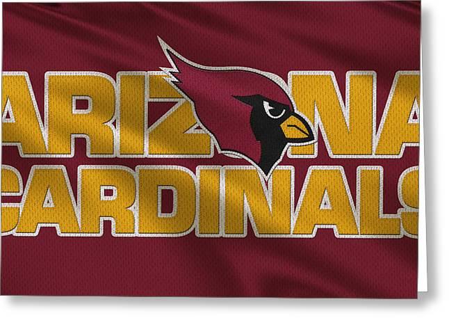 Arizona Greeting Cards - Arizona Cardinals Uniform Greeting Card by Joe Hamilton