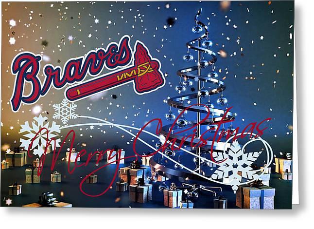 Baseball Field Greeting Cards - Atlanta Braves Greeting Card by Joe Hamilton