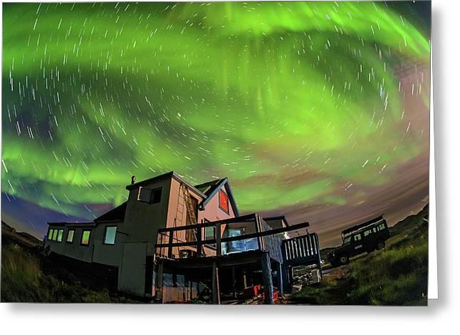 Auroral Display Greeting Card by Juan Carlos Casado (starryearth.com)