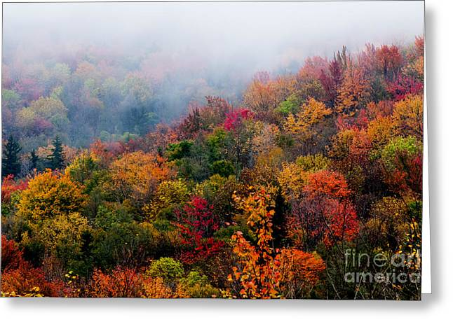 Allegheny Greeting Cards - Autumn Highland Scenic Highway Greeting Card by Thomas R Fletcher