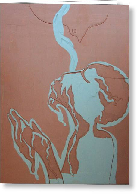 Jesus Ceramics Greeting Cards - Baptism of The Lord Jesus Greeting Card by Gloria Ssali