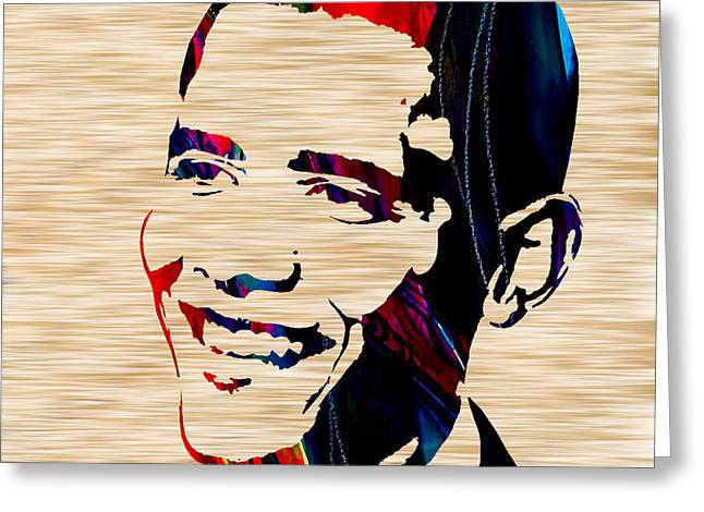 President Obama Greeting Cards - Barack Obama Greeting Card by Marvin Blaine