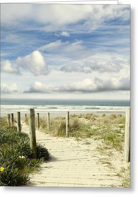 Beach Scenery Greeting Cards - Beach view Greeting Card by Les Cunliffe
