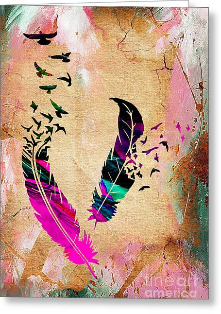 Birds Of A Feather Greeting Card by Marvin Blaine
