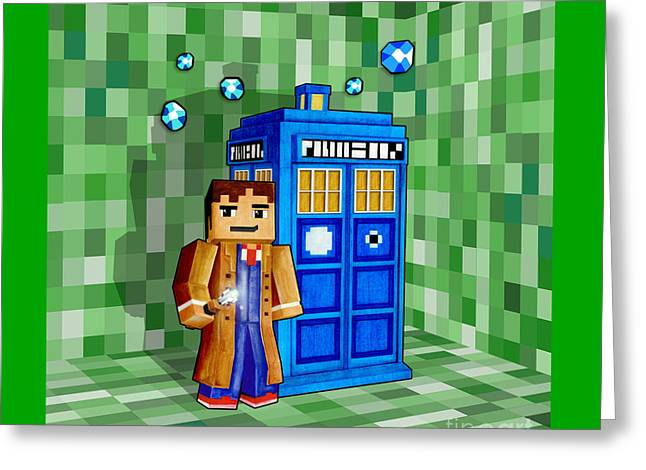 Fandom Greeting Cards - 8 Bit Time And Space Traveller Greeting Card by Lugu Poerawidjaja