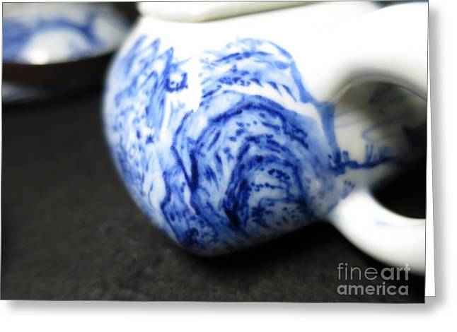 Chinese Ceramics Greeting Cards - Blue And White Porcelain Greeting Card by Champion Chiang