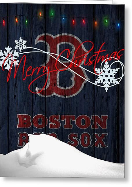 Boston Stadium Greeting Cards - Boston Red Sox Greeting Card by Joe Hamilton