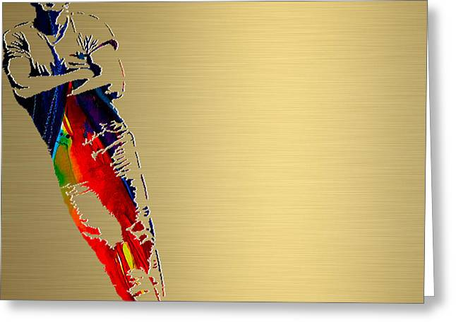 Born To Run Greeting Cards - Bruce Springsteen Gold Series Greeting Card by Marvin Blaine