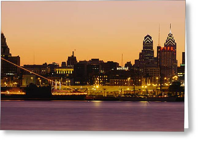 Delaware River Greeting Cards - Buildings At The Waterfront Greeting Card by Panoramic Images