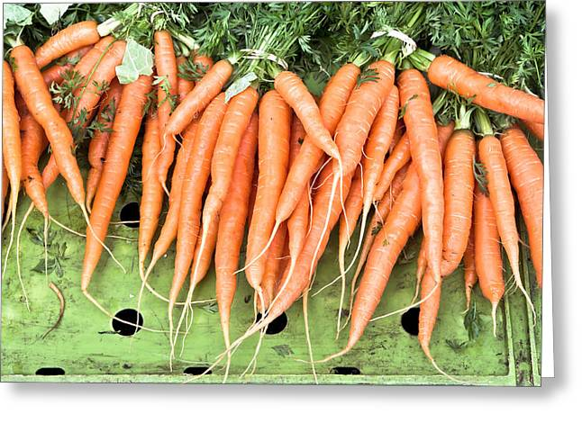 Bunch Greeting Cards - Carrots Greeting Card by Tom Gowanlock