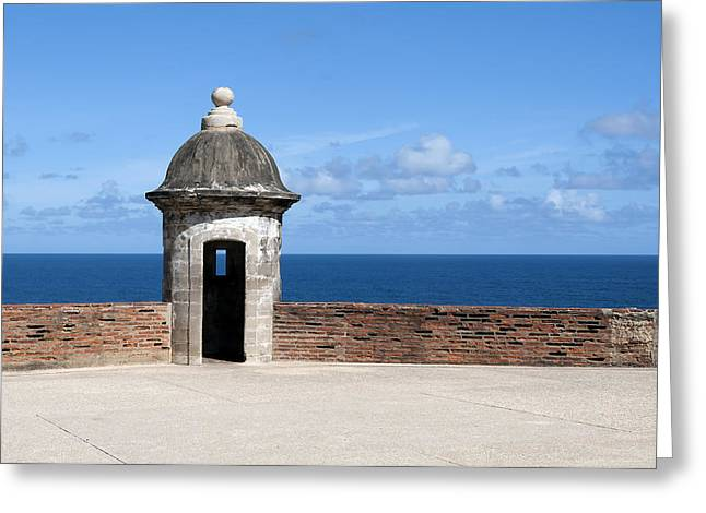 Puerto Rico Greeting Cards - Castillo de San Cristobal. Greeting Card by Fernando Barozza