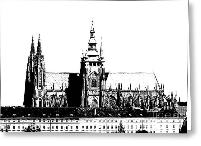 Minster Greeting Cards - Cathedral of St Vitus Greeting Card by Michal Boubin