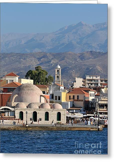 Islands Greeting Cards - Chania city Greeting Card by George Atsametakis