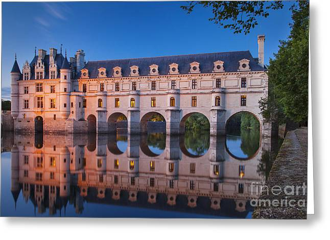 Castles Greeting Cards - Chateau Chenonceau Greeting Card by Brian Jannsen