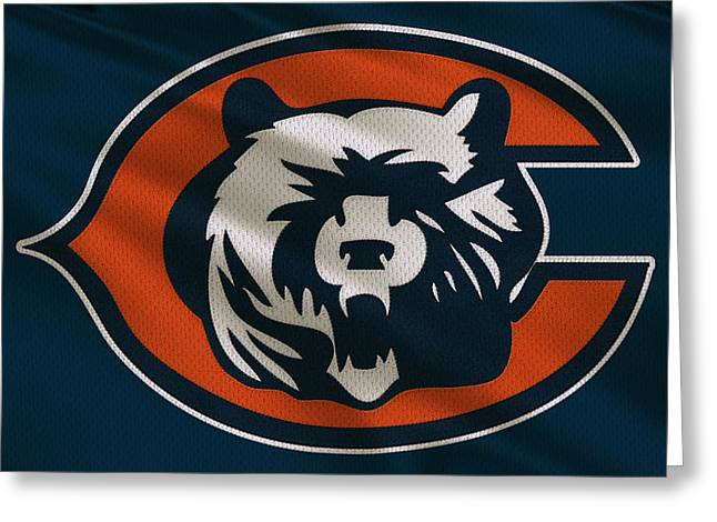 Sports Uniform Greeting Cards - Chicago Bears Uniform Greeting Card by Joe Hamilton