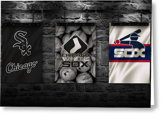 White Gloves Greeting Cards - Chicago White Sox Greeting Card by Joe Hamilton
