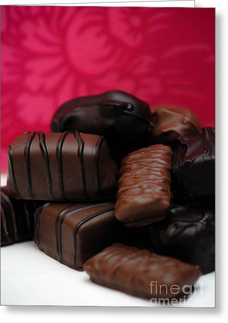 Valentines Day Greeting Cards - Chocolate Candies Greeting Card by Amy Cicconi