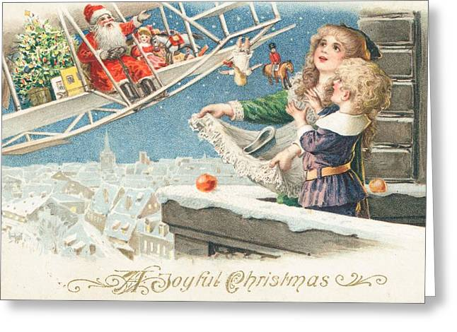 Old Saint Nick Greeting Cards - Christmas Card Greeting Card by American School