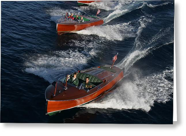 Runabout Greeting Cards - Classic Chris Craft Greeting Card by Steven Lapkin