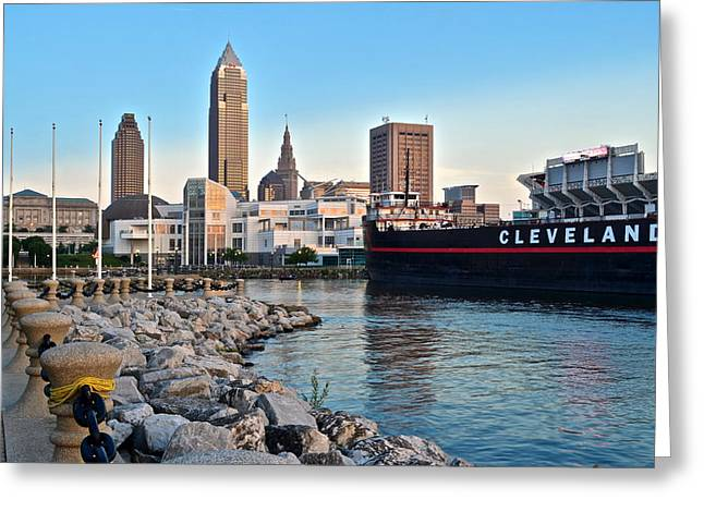 Republican Photographs Greeting Cards - Cleveland Ohio Greeting Card by Frozen in Time Fine Art Photography