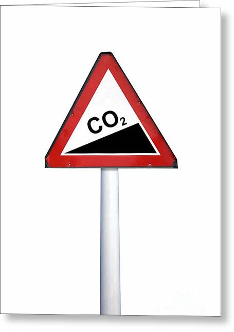 Carbon Dioxide Greeting Cards - Climate Change, Conceptual Image Greeting Card by Victor de Schwanberg