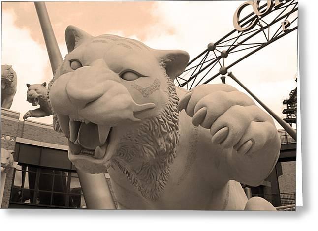 Detroit Tigers Baseball Art Greeting Cards - Comerica Park - Detroit Tigers Greeting Card by Frank Romeo