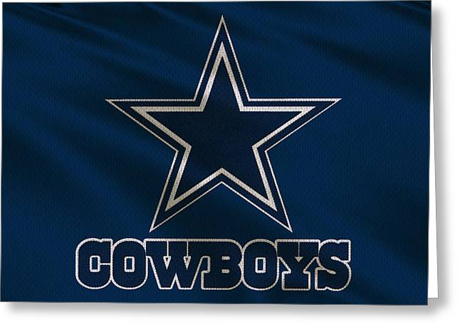 Dallas Cowboys Uniform Greeting Card by Joe Hamilton