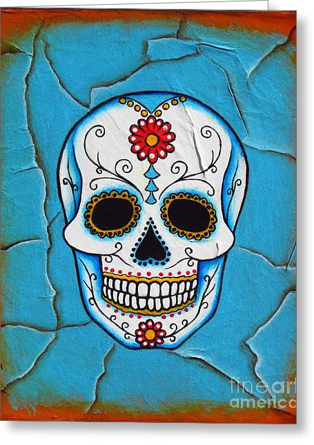 Day Mixed Media Greeting Cards - Day of the Dead Greeting Card by Joseph Sonday