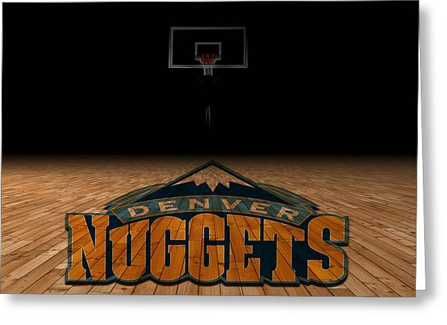 Division Greeting Cards - Denver Nuggets Greeting Card by Joe Hamilton